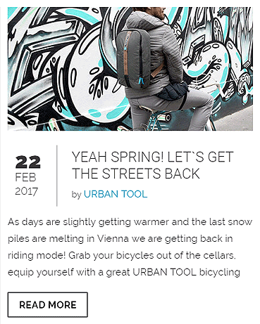 urban cycling with day pack and fanny pack