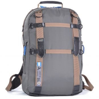 laptop backpack grey front