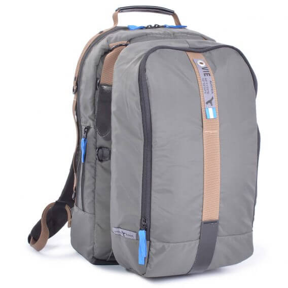 laptop backpack grey modular