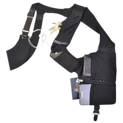 gadget shoulder holster for wallet and smartphone