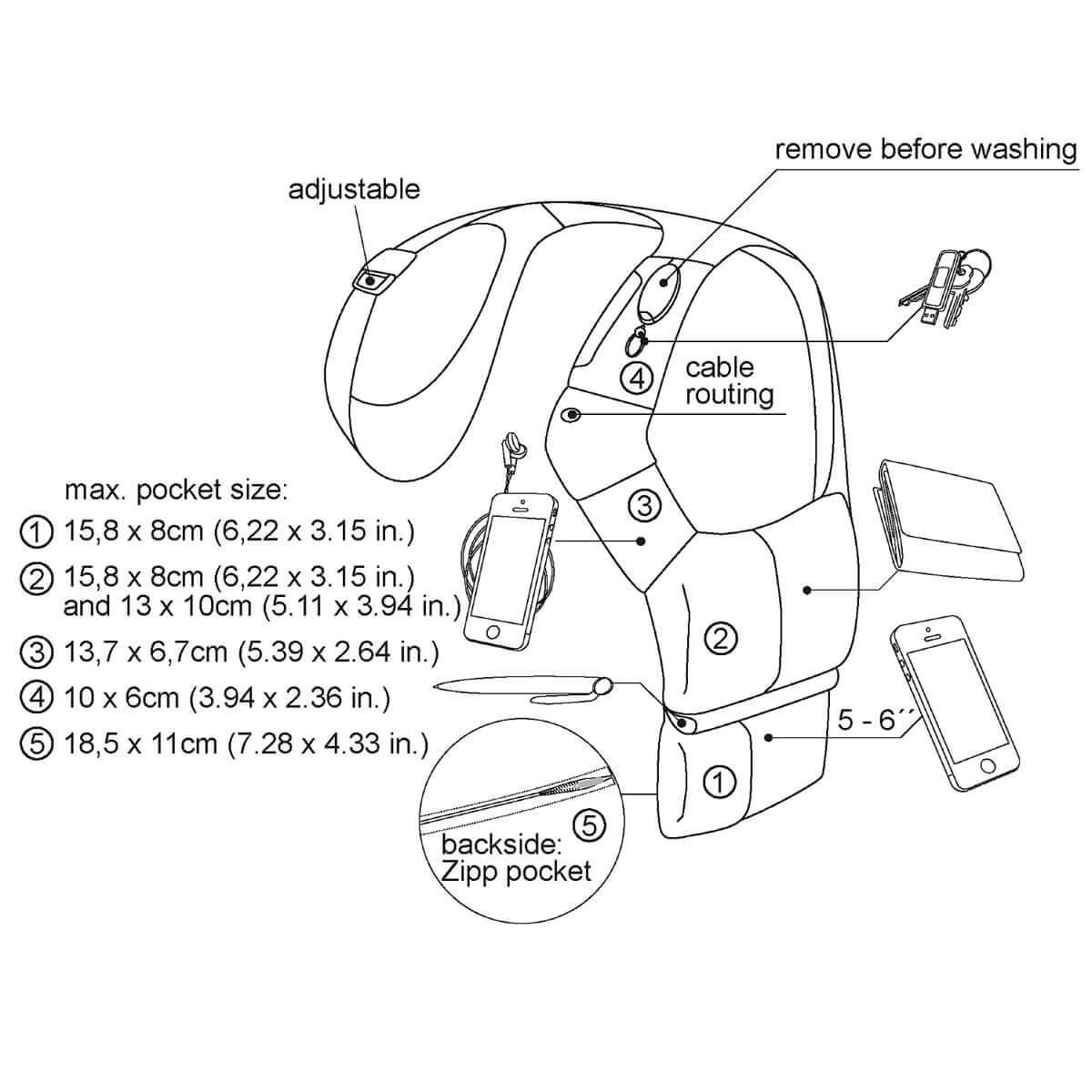 gadget shoulder holster for everyday business