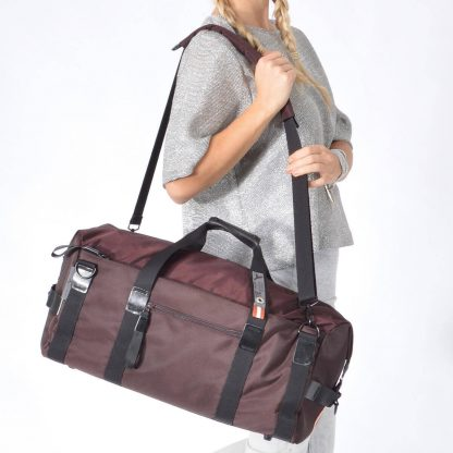 gym bag weekender brown