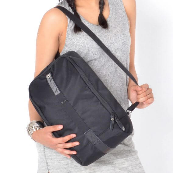 sling bag backpack black