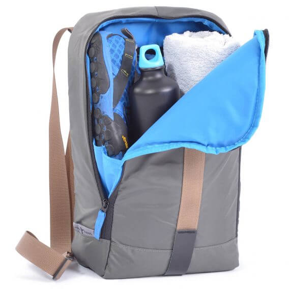 sling bag backpack grey inside