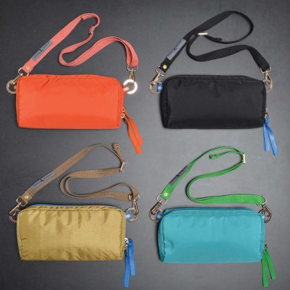 purse, fanny pack for secure and light weight travel. colors