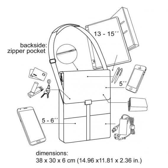 laptop shoulder bag function