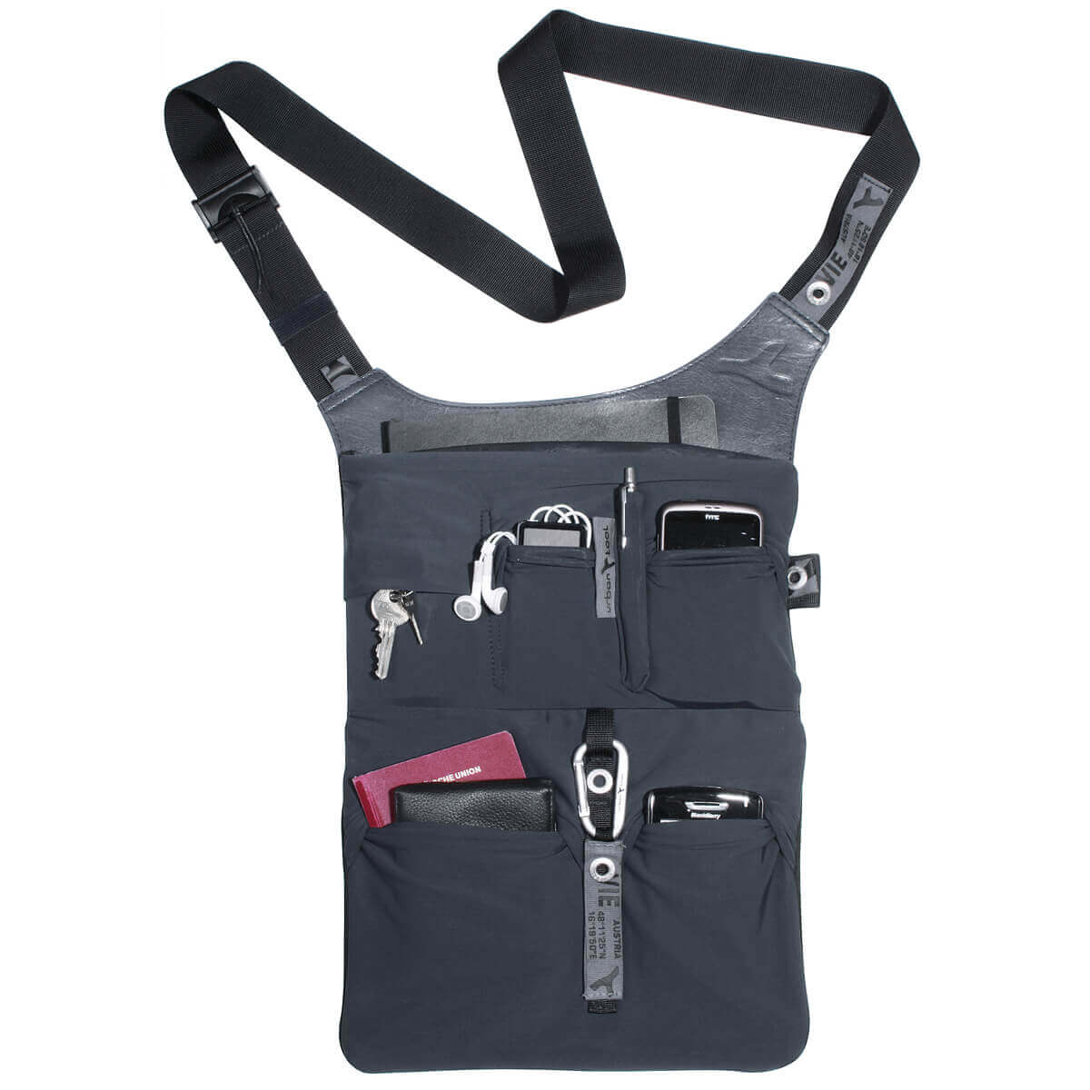 sling bag for 13´´ Tablets and laptops, filled
