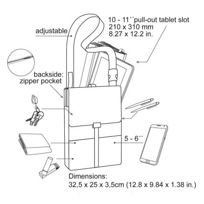 iPad sling bag backpack function