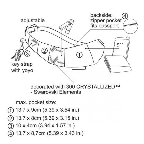 crystallized bum bag