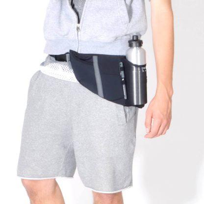 Jogging Gurt mit Fächern Handy, Brieftasche & Trinkflasche
