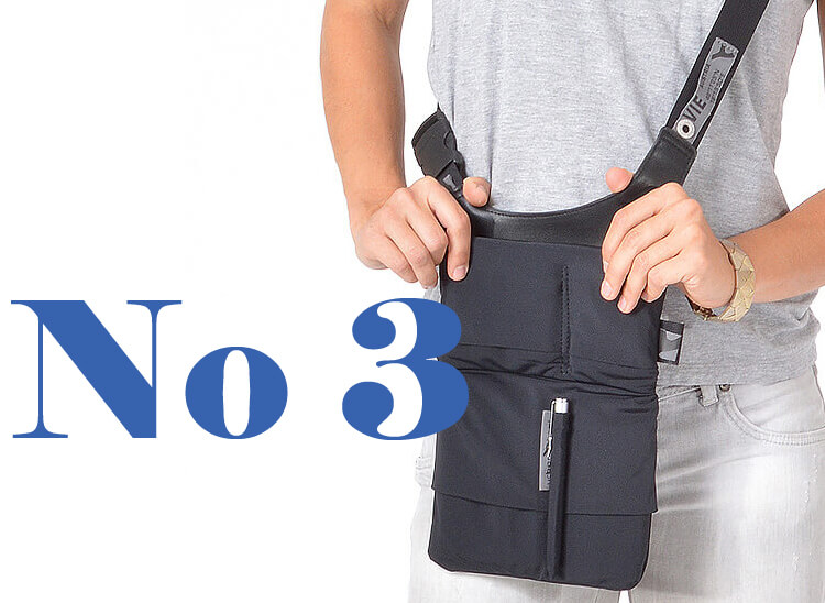 Stylish shoulder tablet and smartphone bag URBAN TOOL slotbar