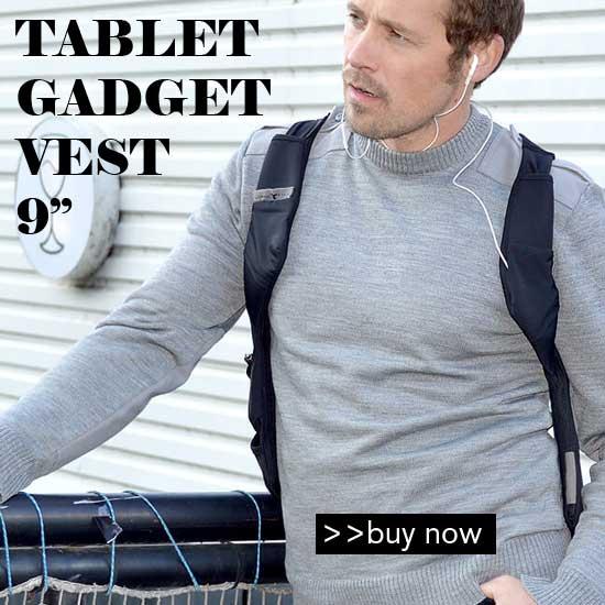 tablet vest for gadgets, phone, tablet