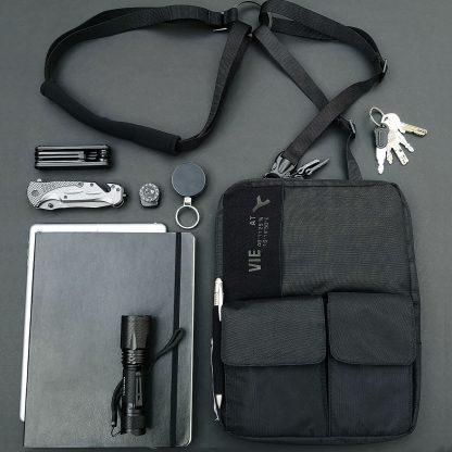 3-in-1 tablet bag für 9-10´´ tablets und ipads, shoulder holster, bag and fanny pack
