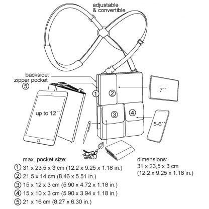 flexible multifunctional tablet bag