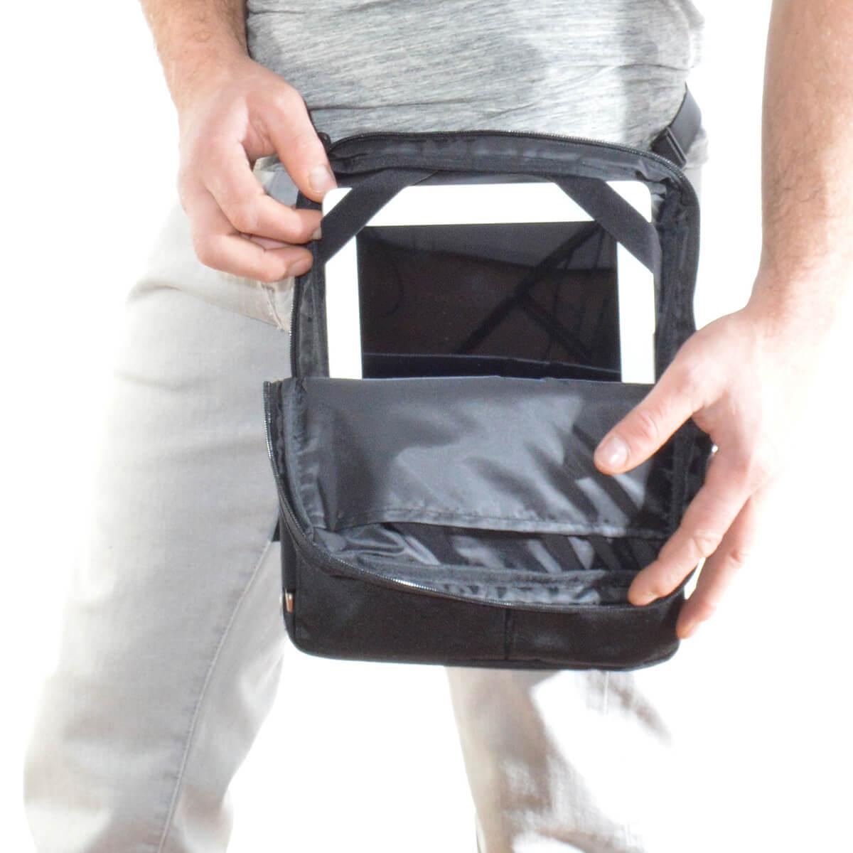 flexible multifunktionale Tablet Tasche als Hüfttasche