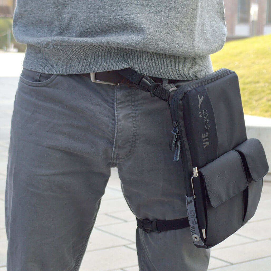 3-in-1 tablet bag waist pack wearing option