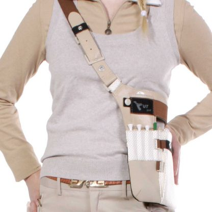 fanny pack golf edition female shoulder wearing