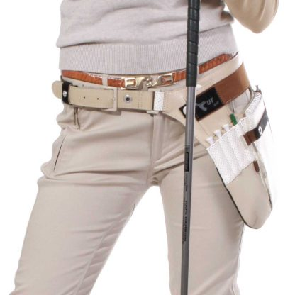 fanny pack golf edition female waist wearing