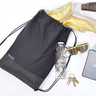 gymbag Drawstring hipster bag, organic cotton