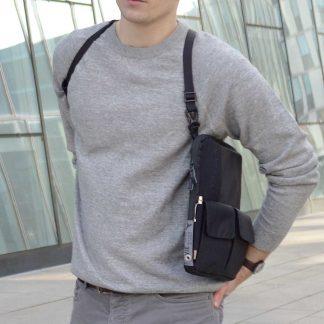 tabletharness 3 in 1 bag shoulder bag, shoulder harness and waist pack